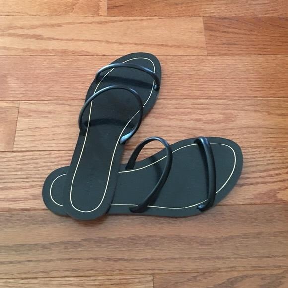 a467d6181bd01 J. Crew Shoes - J. Crew Black Double Strap Sandals 8